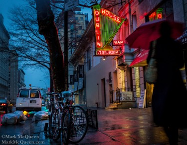 Dive Bar: New York City Street Photography, nighttime in NYC