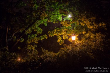 Tomkins Square Park: New York City Street Photography, nighttime in NYC