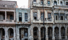 Decaying buildings on the Malecone, Havana Cuba