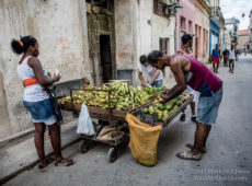 Street Fruit Vendor in Havana Cuba