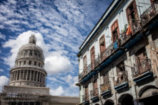 Capitol building and apartments in Havana, Cuba