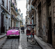 Taxi and pedicab in Havana, Cuba